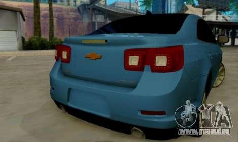 Chevrolet Malibu für GTA San Andreas Rückansicht