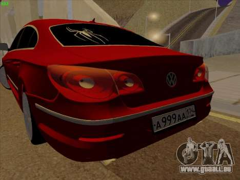 Volkswagen Passat CC pour GTA San Andreas vue de droite