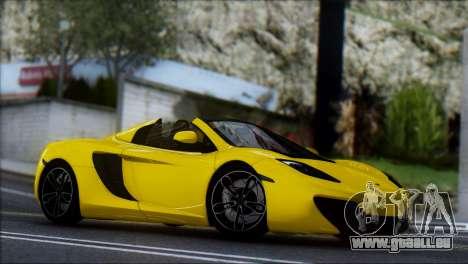 McLaren MP4-12C Spider für GTA San Andreas Rückansicht