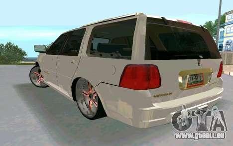 Lincoln Navigator DUB Edition pour GTA San Andreas laissé vue