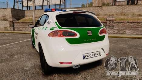 Seat Cupra Guardia Civil [ELS] für GTA 4 hinten links Ansicht