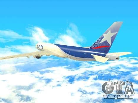 Boeing 777 LAN Cargo für GTA San Andreas Innenansicht
