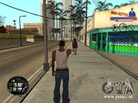 Le nouveau C-HUD Ghetto pour GTA San Andreas cinquième écran