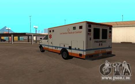 GTA 5 Ambulance pour GTA San Andreas vue de droite