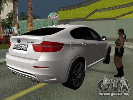 BMW X6M 2010 pour GTA San Andreas vue de côté