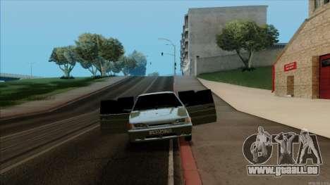 VAZ 2114 pour GTA San Andreas vue intérieure