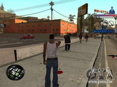 Le nouveau C-HUD Ghetto pour GTA San Andreas deuxième écran