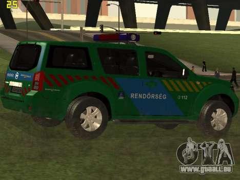 Nissan Pathfinder Police für GTA San Andreas Seitenansicht