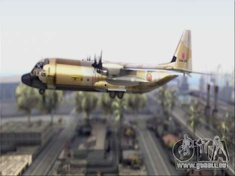 C-130 Hercules Royal Moroccan Air Force für GTA San Andreas zurück linke Ansicht