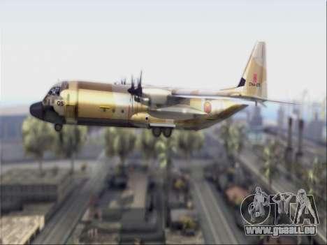 C-130 Hercules Royal Moroccan Air Force für GTA San Andreas zurück linke Ansicht