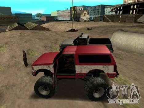 Street Monster pour GTA San Andreas sur la vue arrière gauche