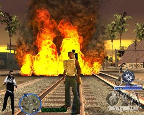 C-HUD For Police Departament pour GTA San Andreas quatrième écran