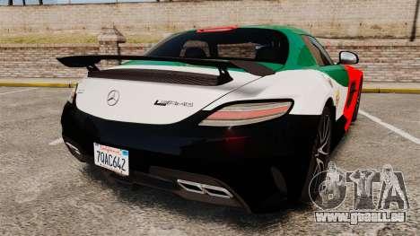 Mercedes-Benz SLS 2014 AMG UAE Theme pour GTA 4 Vue arrière de la gauche