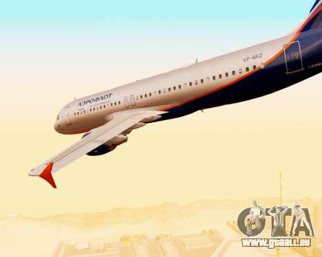 Airbus A320-200 Aeroflot für GTA San Andreas Unteransicht