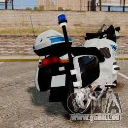 BMW R1150RT Police municipale [ELS] pour GTA 4 Vue arrière de la gauche
