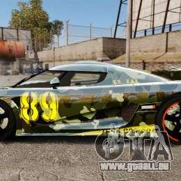 Koenigsegg One:1 für GTA 4 linke Ansicht