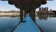 Die Straße unter der Brücke
