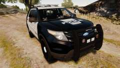 Ford Explorer 2013 LCPD [ELS] Black and Gray pour GTA 4