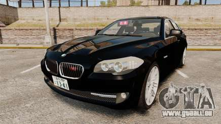 BMW M5 F10 2012 Japanese Unmarked Police [ELS] pour GTA 4
