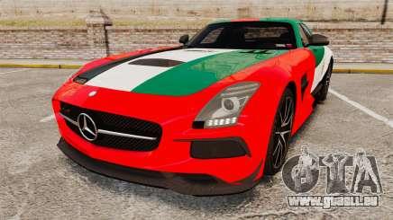 Mercedes-Benz SLS 2014 AMG UAE Theme für GTA 4