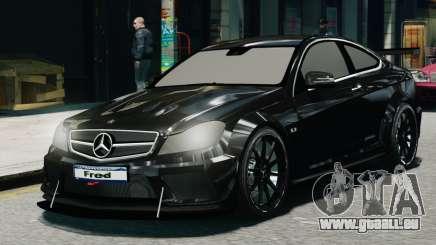 Mercedes-Benz C63 AMG Black Series 2012 für GTA 4