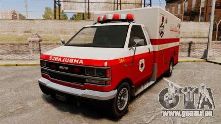 Iranien de la peinture ambulance pour GTA 4