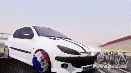 Peugeot 206 Mehmet ALAN pour GTA San Andreas