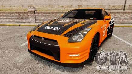 Nissan GT-R 2012 Black Edition NFS Underground für GTA 4