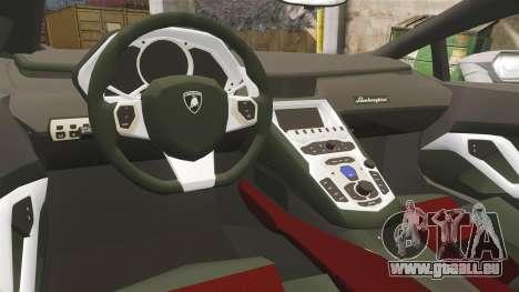 Lamborghini Huracan Hungarian Police [Non-ELS] pour GTA 4 est une vue de l'intérieur