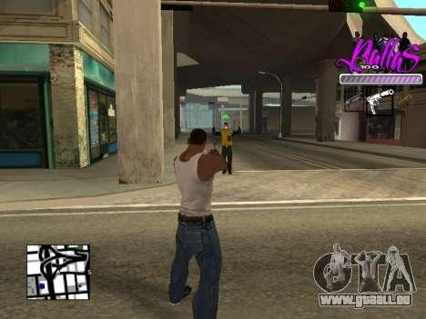 New HUD Ballas Style für GTA San Andreas dritten Screenshot