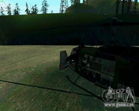 UH-1D Huey pour GTA San Andreas laissé vue