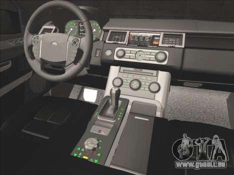 Range Rover Sport für GTA San Andreas Unteransicht