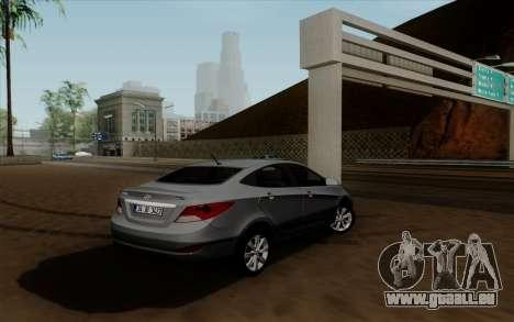 Hyundai Solaris für GTA San Andreas linke Ansicht