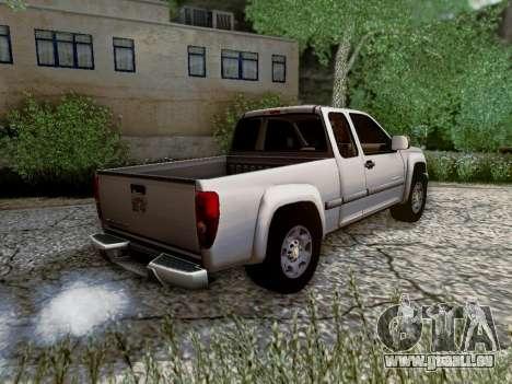 Chevrolet Colorado pour GTA San Andreas vue intérieure