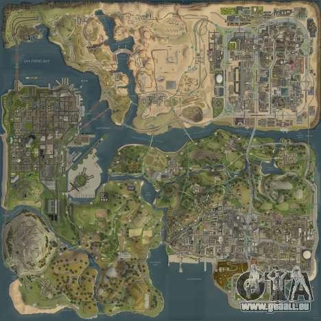 Die neue Karte in HD für GTA San Andreas