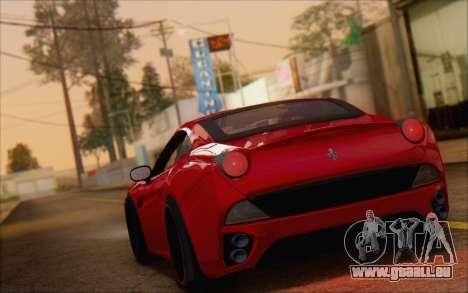 Ferrari California v2 pour GTA San Andreas laissé vue