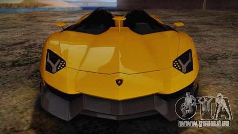 Lamborghini Aventandor J 2010 pour GTA San Andreas vue de dessous