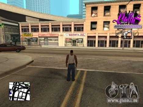 New HUD Ballas Style für GTA San Andreas zweiten Screenshot