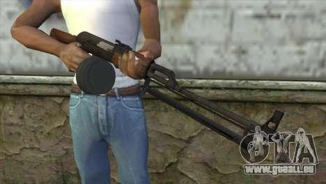 RPK Machine Gun pour GTA San Andreas troisième écran