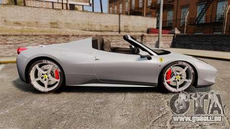 Ferrari 458 Spider für GTA 4 linke Ansicht