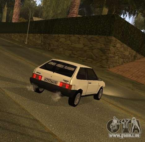 ВАЗ 2108 GVR Version 1.2 pour GTA San Andreas laissé vue