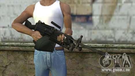 M249 SAW Machine Gun pour GTA San Andreas troisième écran