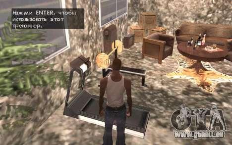 Le sous-sol de la maison Carl pour GTA San Andreas septième écran