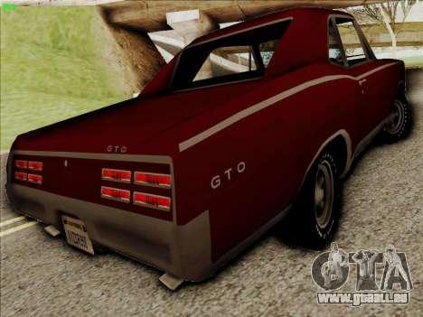 Pontiac GTO 1967 pour GTA San Andreas vue de droite