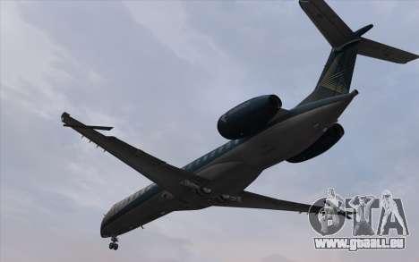 Embraer 145 Xp für GTA San Andreas zurück linke Ansicht