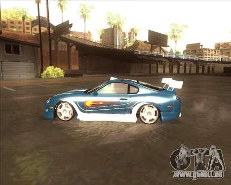 Toyota Supra из NFS most Wanted pour GTA San Andreas laissé vue