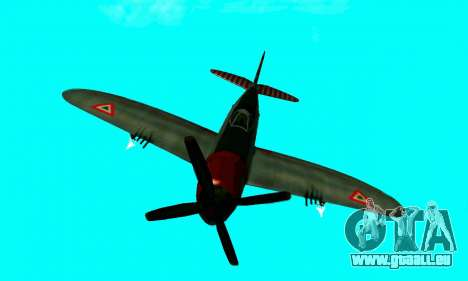 P-47 Thunderbolt pour GTA San Andreas vue arrière