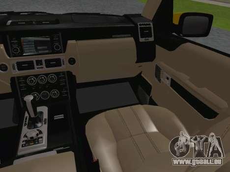 Range Rover Supercharged Series III pour GTA San Andreas salon