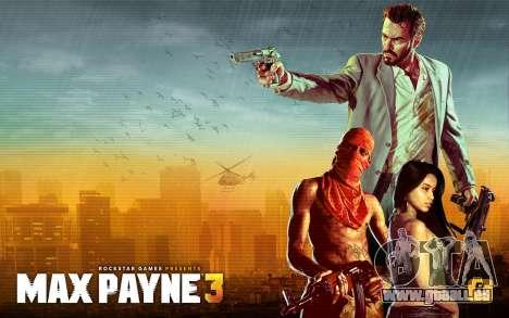 Les écrans de démarrage Max Payne 3 HD pour GTA San Andreas quatrième écran