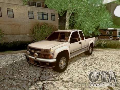 Chevrolet Colorado pour GTA San Andreas salon
